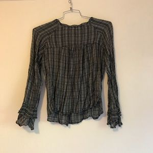 Lucky Brand, Navy and gray long sleeve